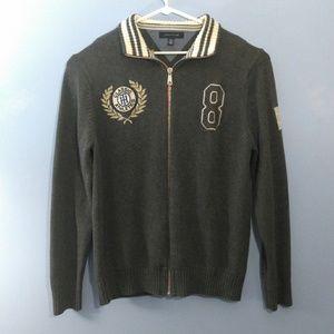 Tommy Hilfiger Full Zip Sweater Men's XXL Gray